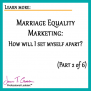 Marriage Equality Marketing: How will I set myself apart? Part 2 of 6