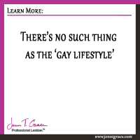 There's no such thing as the 'gay lifestyle'