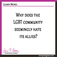 Why does the LGBT community seemingly hate its allies?