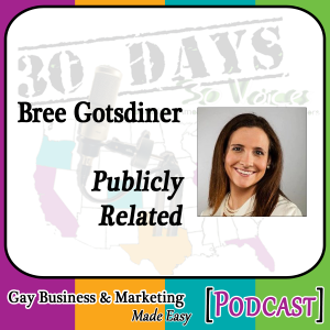 """Expert Interview with Bree Gotsdiner for for """"30 Days – 30 Voices – Stories from America's LGBT Business Leaders"""" [Podcast]"""