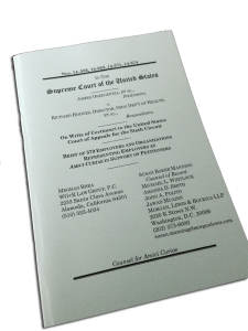My printed copy of the Obergefell v. Hodges Amicus Brief