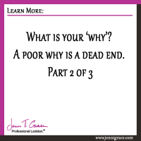 What is your 'why'? A poor why is a dead end. Part 2 of 3