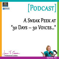 "#012: A Sneak Peek at ""30 Days – 30 Voices…"" [Podcast]"